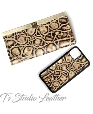 Tortoise Texture Cowhide Leather Women's Wallet