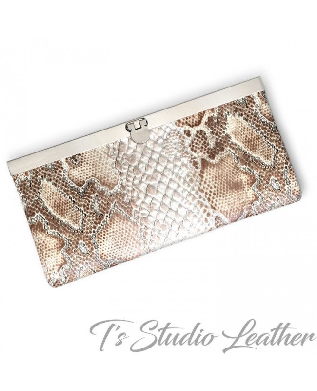 Python Snakeskin Cowhide Leather Women's Wallet
