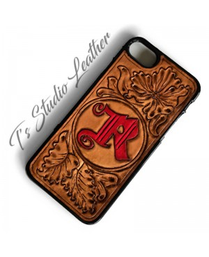 Custom Logo or Brand Hand Tooled Leather Phone Case