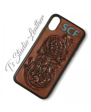 Custom Personalized Hand Tooled Western Style Leather Phone Case - Gift Idea