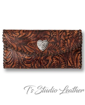 Brown Western Style Womens Wallet