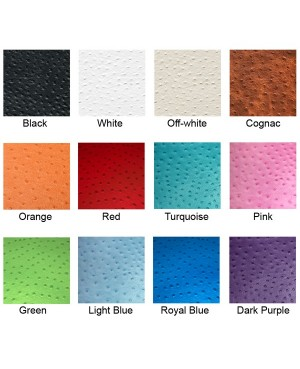 Pink Ostrich Leather Cuff Bracelet