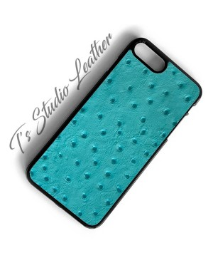 Ostrich Leather iPhone Case - Genuine Cowhide Emu Embossed Print