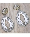 Vintage Western Antique Silver Hoop Earrings